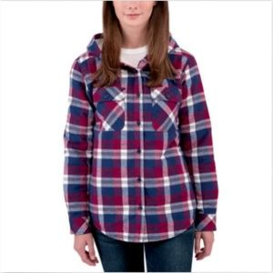 Boston Traders Ladies' Sherpa Lined Hooded Flannel